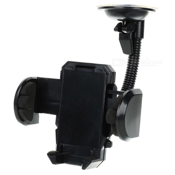 LSON 018 Universal Car Windshield Mount Holder for Cell Phone - Black
