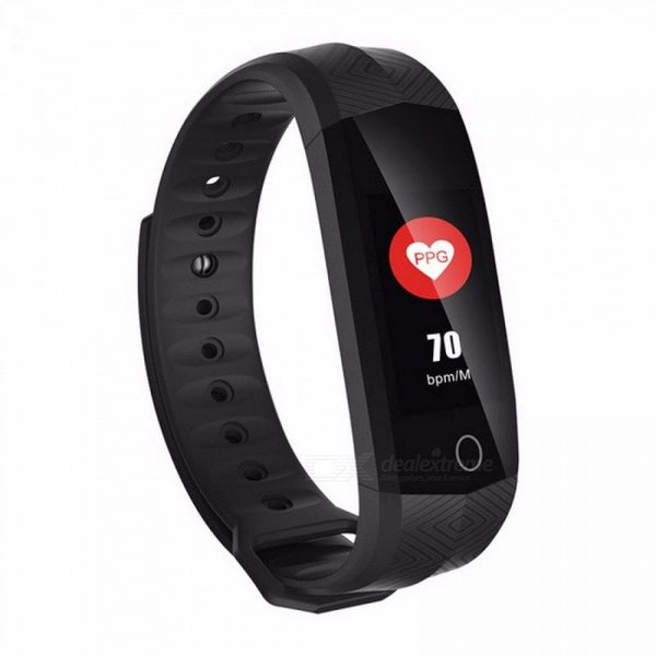 CD02 Waterproof Fitness Bracelet Bluetooth Color LCD Screen Sport Wrist Band Smart Watches Heart Rate Tracker