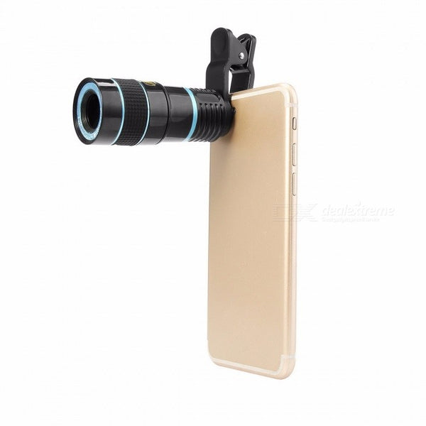 LIEQI LQ-007 HD Universal Cell Phone Lens Manual 8X Optical Zoom Telephoto Lens For Smartphone