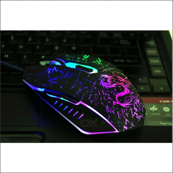 Brand USB Computer Optical Wired Gaming Mouse For Air PC Notebook Dota2 Gamer Laptop Pad Men Mice Black
