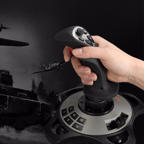 PXN 2113 Thunder Pro Game Flight Simulator Joystick Flight Game Rocker Controller Flight Stick Bar Vibration Gaming Joys
