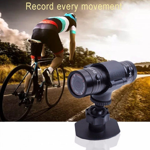 HD Waterproof Sports Camera DV, Wide Angle Action Camera Video Recorder Camcorder For Outdoor Cycling Black