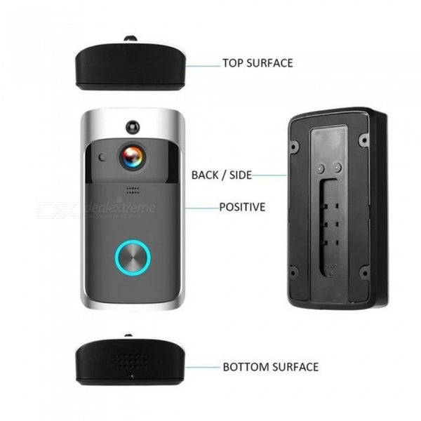 WiFi Smart Wireless Security DoorBell Smart 1080P Visual Intercom Recording Video Door Phone Remote Home Monitoring Night Vision
