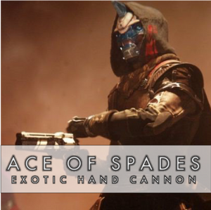 Ace of Spades Exotic Quest - Master Carries