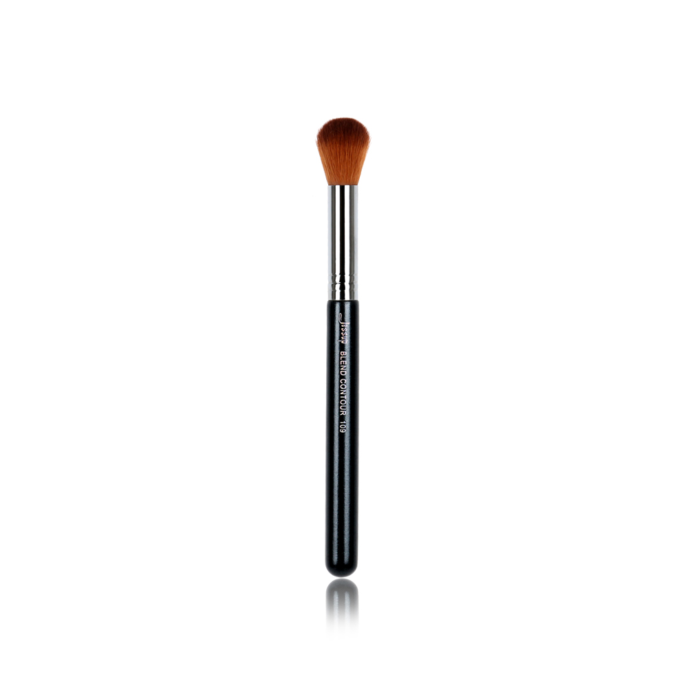 Synthetic Hair Wooden Handle Single Faced Makeup Brush For Professional and Beginner Precision Flat Angular Brush