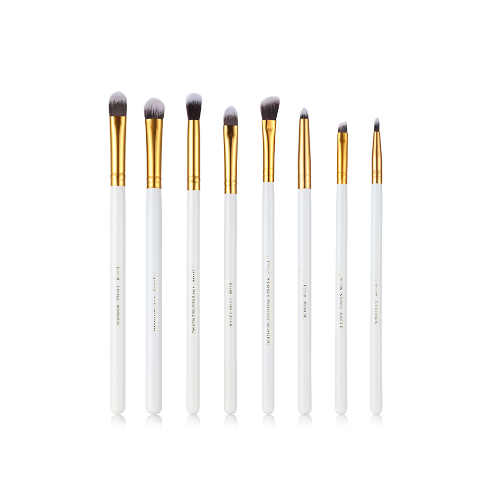 8pcs kits Eye brush Set blending Eyeshadow angled Eyeliner smoked bloom makeup brushes Beauty Cosmetics