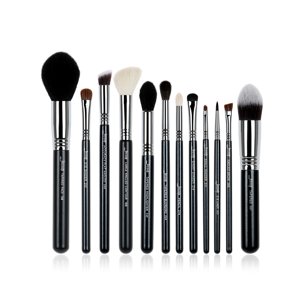 Jessup High Quality Pro Makeup Brush Set Kabuki Foundation Contour EyeShader Blend Brow Powder Make Up Brushes Tool