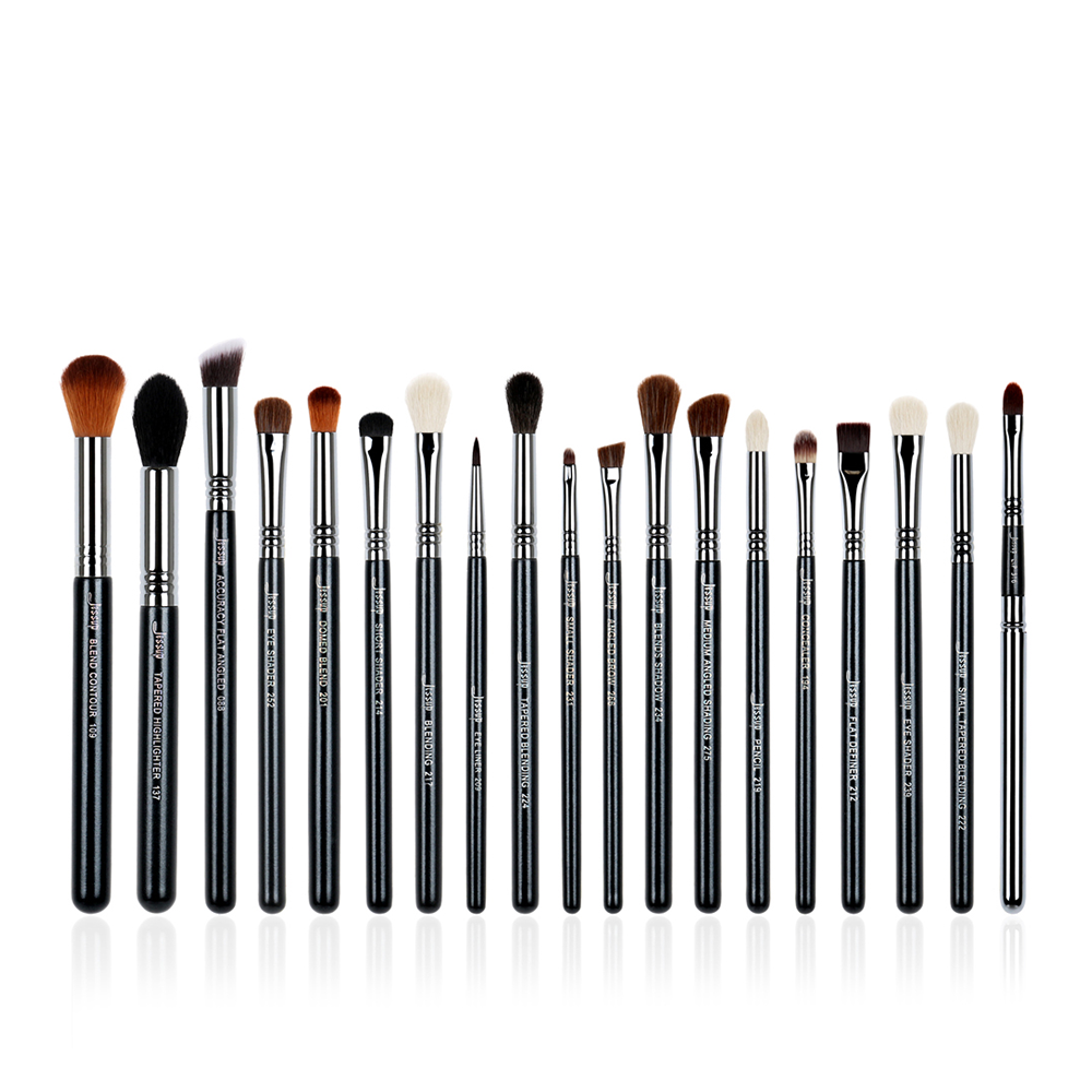 6pcs Pro Makeup Brushes Sets Black/Silver beauty Tools Make Up Brushes Kit Pencil Eye Shader Blend Contour Shadow Lip