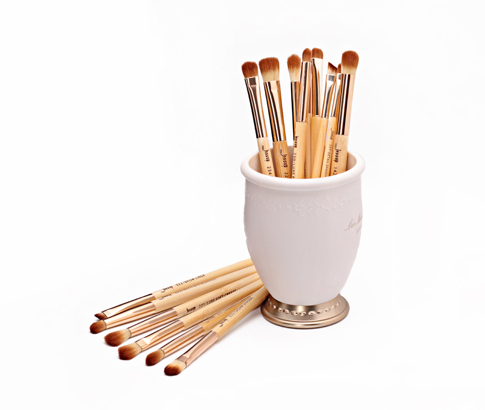 BAMBOO Eyesbrushes Set 15Pcs - Jessup Beauty