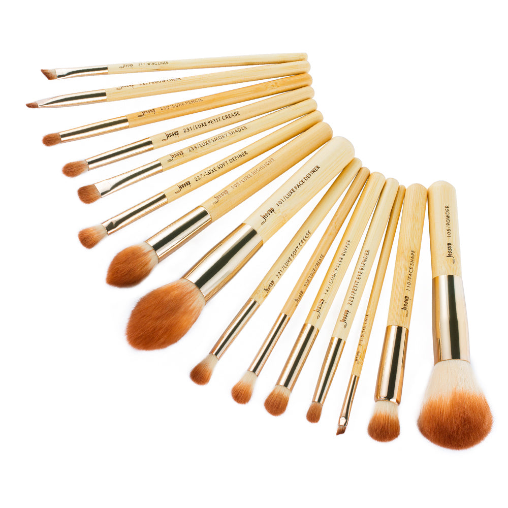 BAMBOO Eyes Face Set 15Pcs - Jessup Beauty