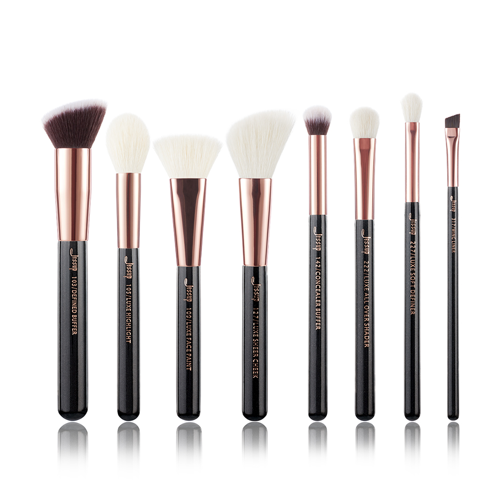 Gold Professional Makeup Brushes Set Make up Brush Tools kit Buffer Paint Cheek Highlight Shader line