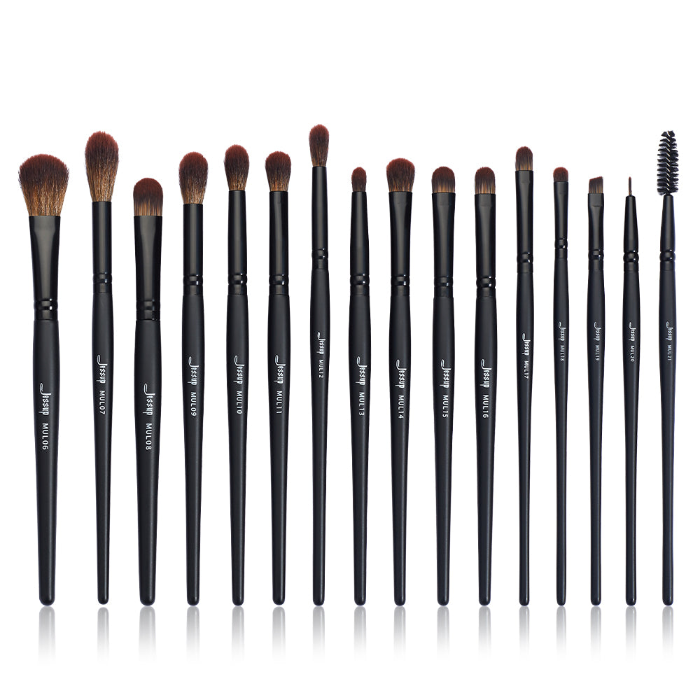Black Precision Brush Kit 16pcs T272