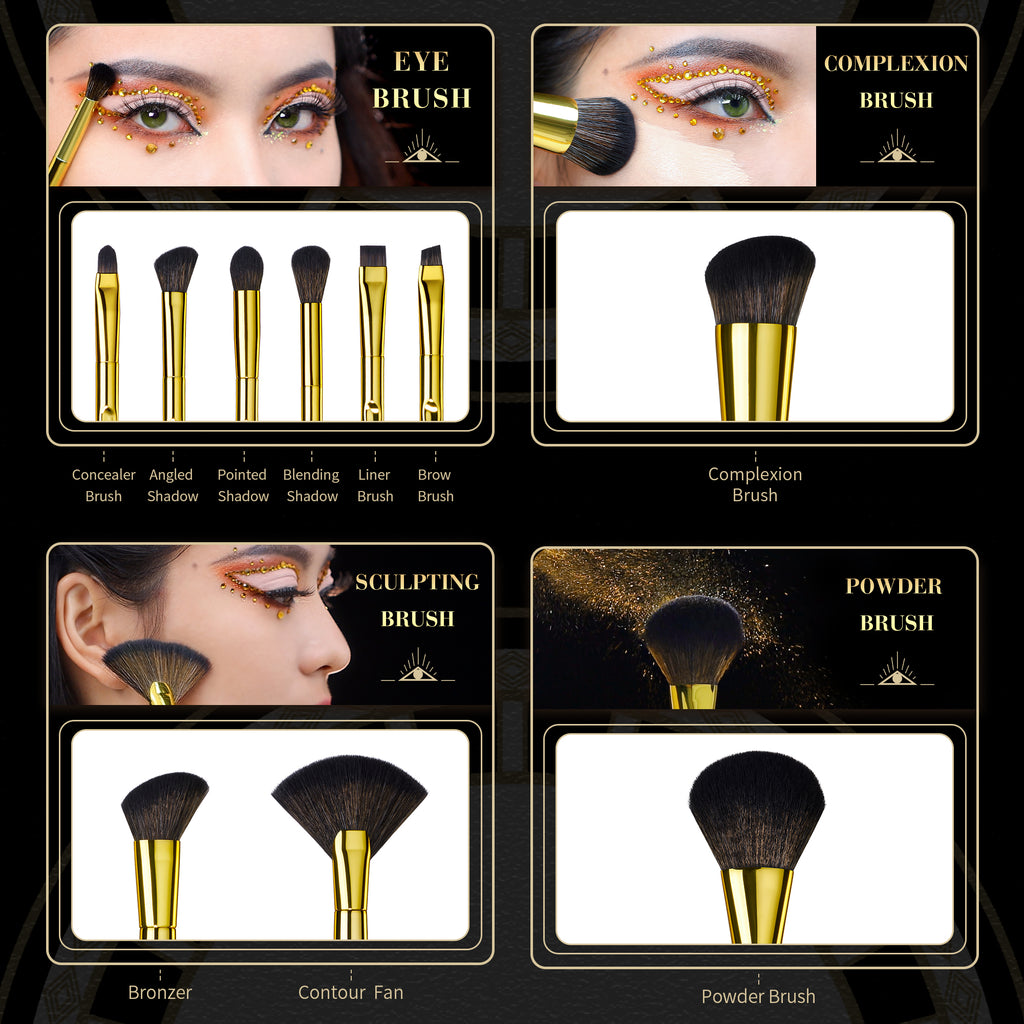 Royal Iconic Makeup Brush Set 10Pcs T317