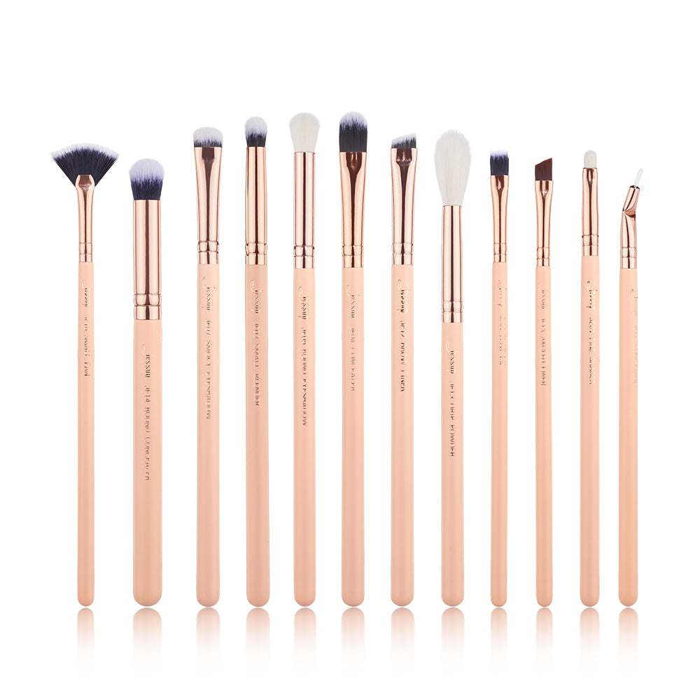 Chrysalid  Eyebrushes 12 Pcs - Jessup Beauty