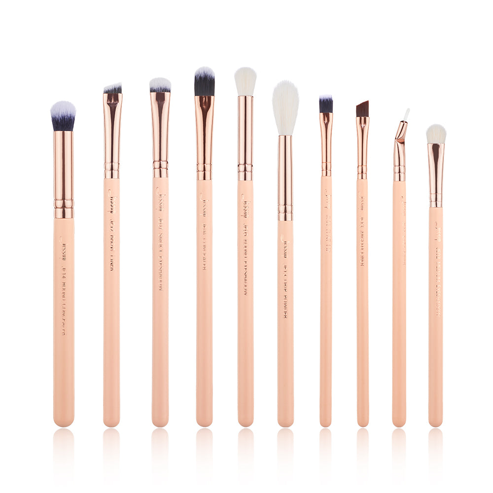 Chrysalid Eyes brushes 10 Pcs - Jessup Beauty