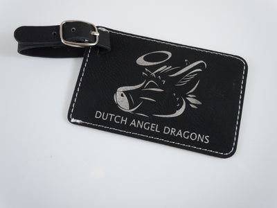 Dutch Angel Dragons Black Luggage Tag
