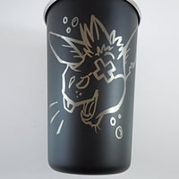 Drunkey Stainless Steel Pint Glass