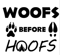 Woofs Before Hoofs Flask Set