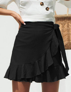 Women's Ruffle Mini Skirt