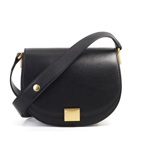 OLIVIA Genuine Leather Saddle Bag