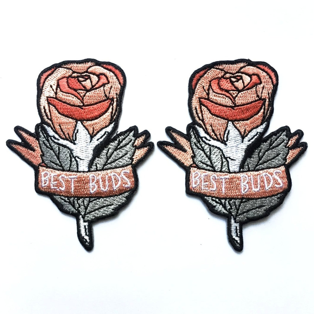 Best Rose Buds Patches (Set of 2)