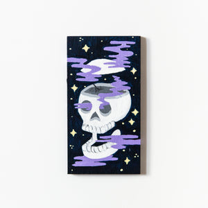 Mini Skull with an Open Mind Painting