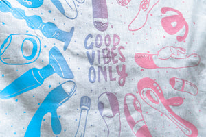 Good Vibes Only Bandana Blue + Pink