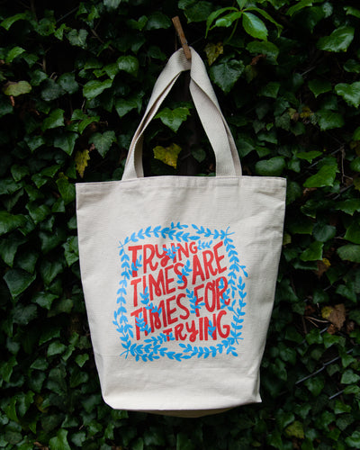 Times For Trying Canvas Tote