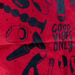 Good Vibes Only Bandana Red + Black