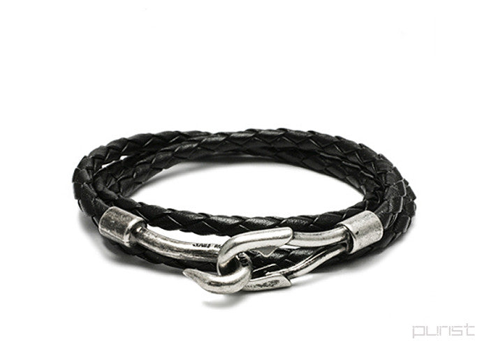 Lace 3Roll Bracelet - Black