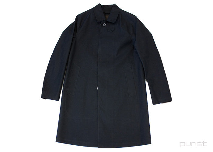 """Dunkeld"" Black Bonded Cotton Coat"
