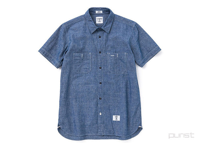 "S/S CHAMBRAY WORK SHIRTS ""BOB"" - Indigo"