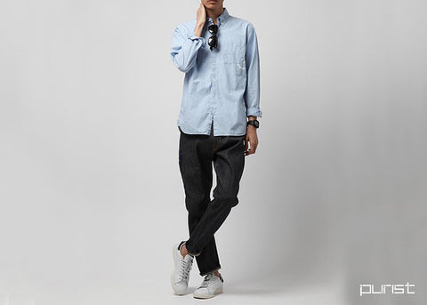 Oxford Chambray Shirt - Blue
