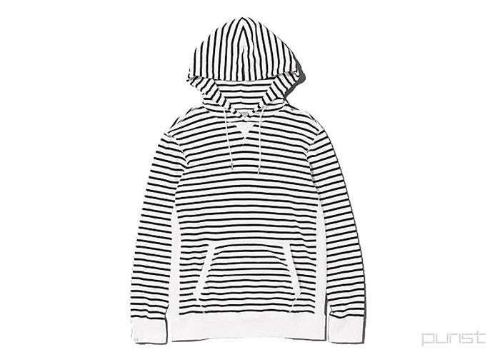 "Men's Hooded Sweat Parka ""COLLINES"" - WHITE"