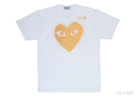 Gold Heart Outline - Womens