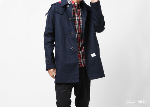 Ball Collar Jacket - Navy