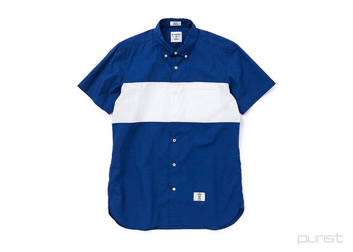 "S/S B.D BROAD W PANEL BC SHIRTS ""COLIN"" - Navy"