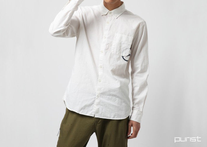 Oxford Chambray Shirt - Off White
