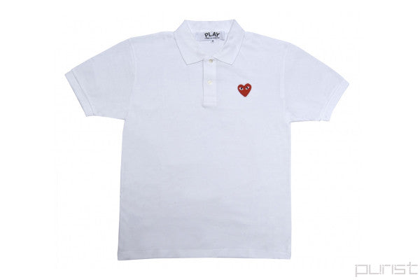 PLAY Red Heart White Polo - Womens