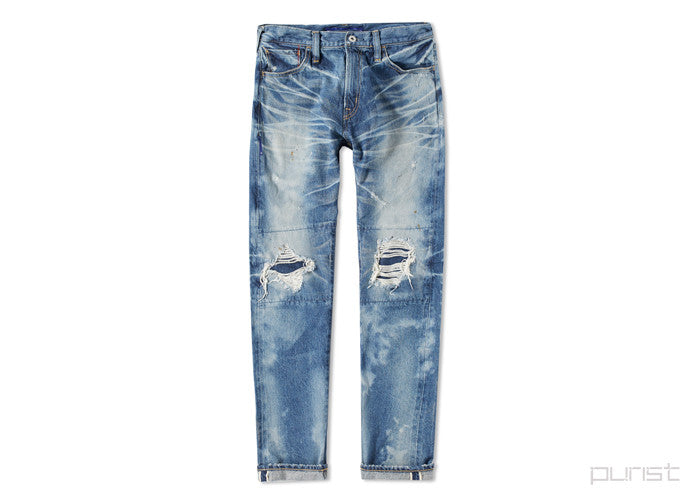 FIVE YEAR DAMAGED TAPERED JEAN