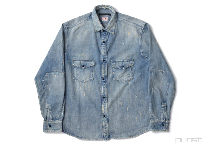 Damaged Denim Shirt