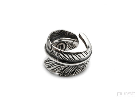Diamond Feather Ring - M