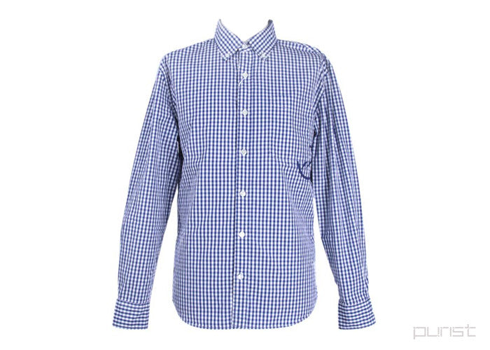 DENIM BY VANQUISH & FRAGMENT GINGHAM BROADCLOTH SHIRT