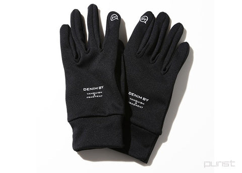 DENIM BY VANQUISH & FRAGMENT SMARTPHONE GLOVES - Black