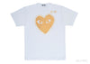 Outlined Gold Heart - Mens