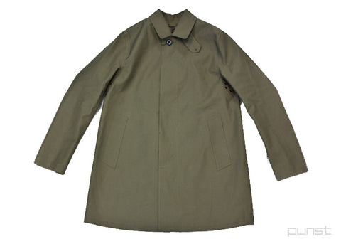 """Dunoon"" BONDED-COTTON RAIN COAT (Olive)"