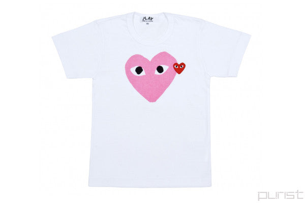 Pink Heart Black Eyes - Womens