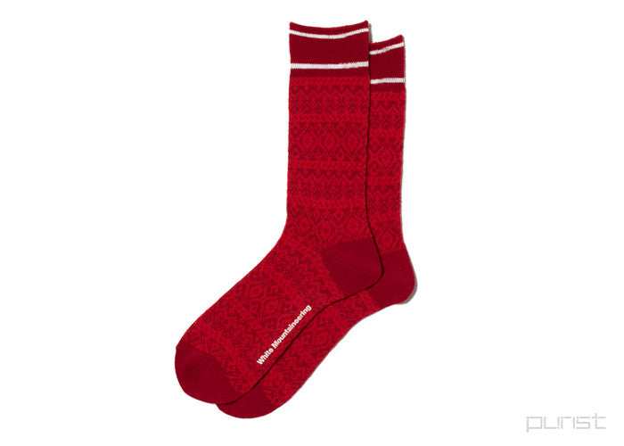 WM - Knitted Socks - Red