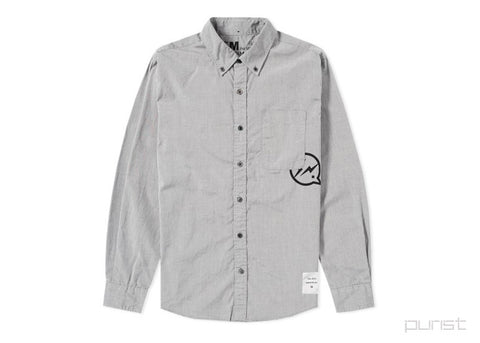 DENIM BY VANQUISH & FRAGMENT BUTTON DOWN BROADCLOTH SHIRT