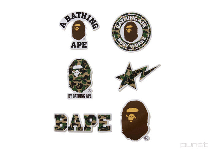 A BATHING APE STICKER SET